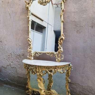 Зеркало с консолью в стиле Барокко под заказ, Италия, конец 20 века