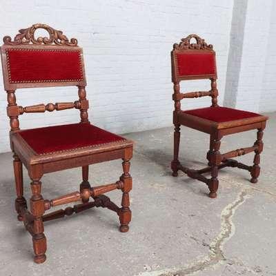 Пара стульев в стиле Ренессанс под заказ, Бельгия, конец 19 века