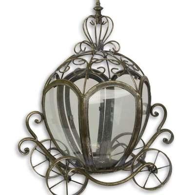 Светильник олово карета в стиле Винтаж под заказ, Голландия, начало 21 века