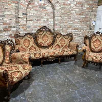 Мягкий комплект (диван и 2 кресла) в стиле Барокко, Италия, середина 20 века