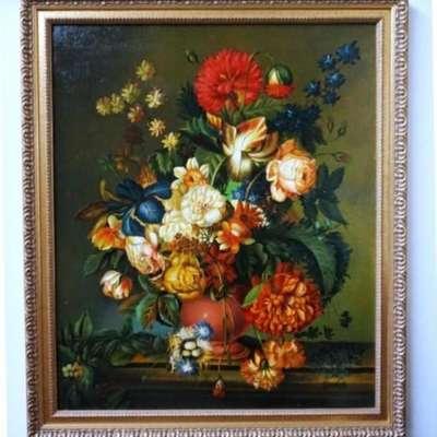"""Картина """"Цветы"""" в стиле Реализм, Голландия, середина 20 века"""