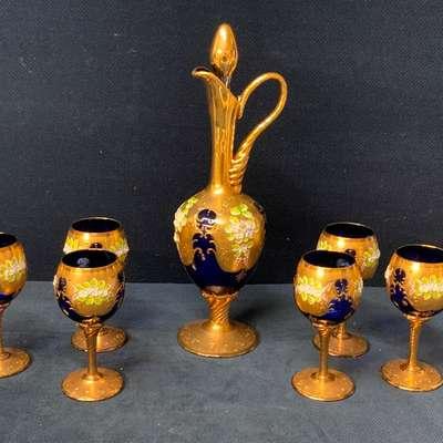 Муранский набор для вина. в стиле Рококо Людовик XV, Италия, конец 20 века