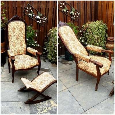 Кресло с подставкой для ног в стиле Бидермайер, Голландия, конец 19 века