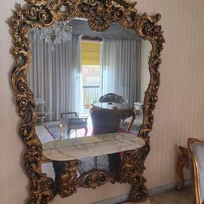 Консоль с зеркалом в стиле Барокко под заказ, Италия, середина 20 века