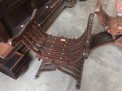 Кресло курульное в стиле Неоренессанс Бельгия, конец 19 века