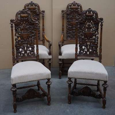 Комплект старинных кресел 1850 год в стиле Ренессанс Франция, середина 19 века
