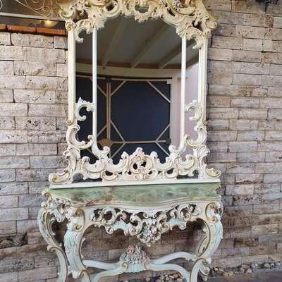 Консоль с зеркалом в стиле Барокко в стиле Барокко под заказ, Италия, конец 20 века