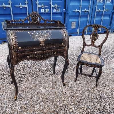 Бюро со стулом в стиле Наполеон III, Франция, начало 20 века