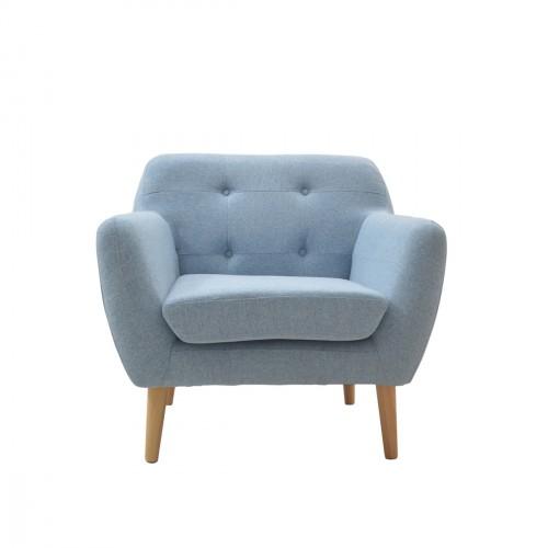 Fauteuil design scandinave bleu