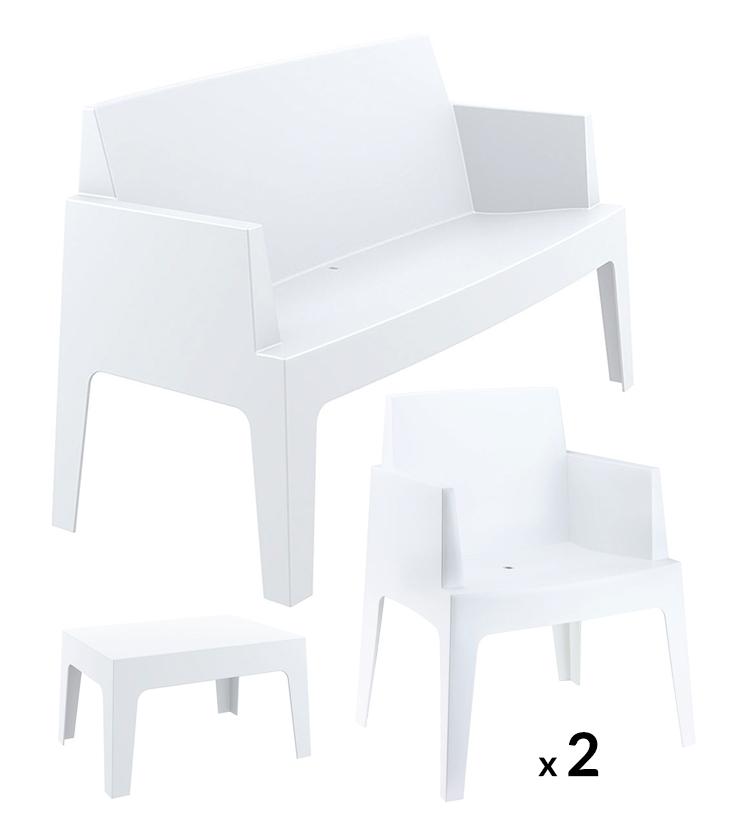 Salon Lounge Blanc