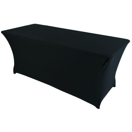 Table buffet 183cm avec housse noire