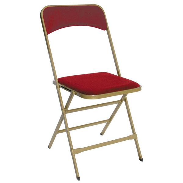 Chaise pliante Appoline rouge