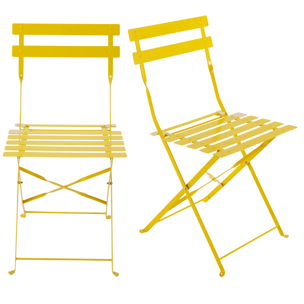 Chaise square latte jaune