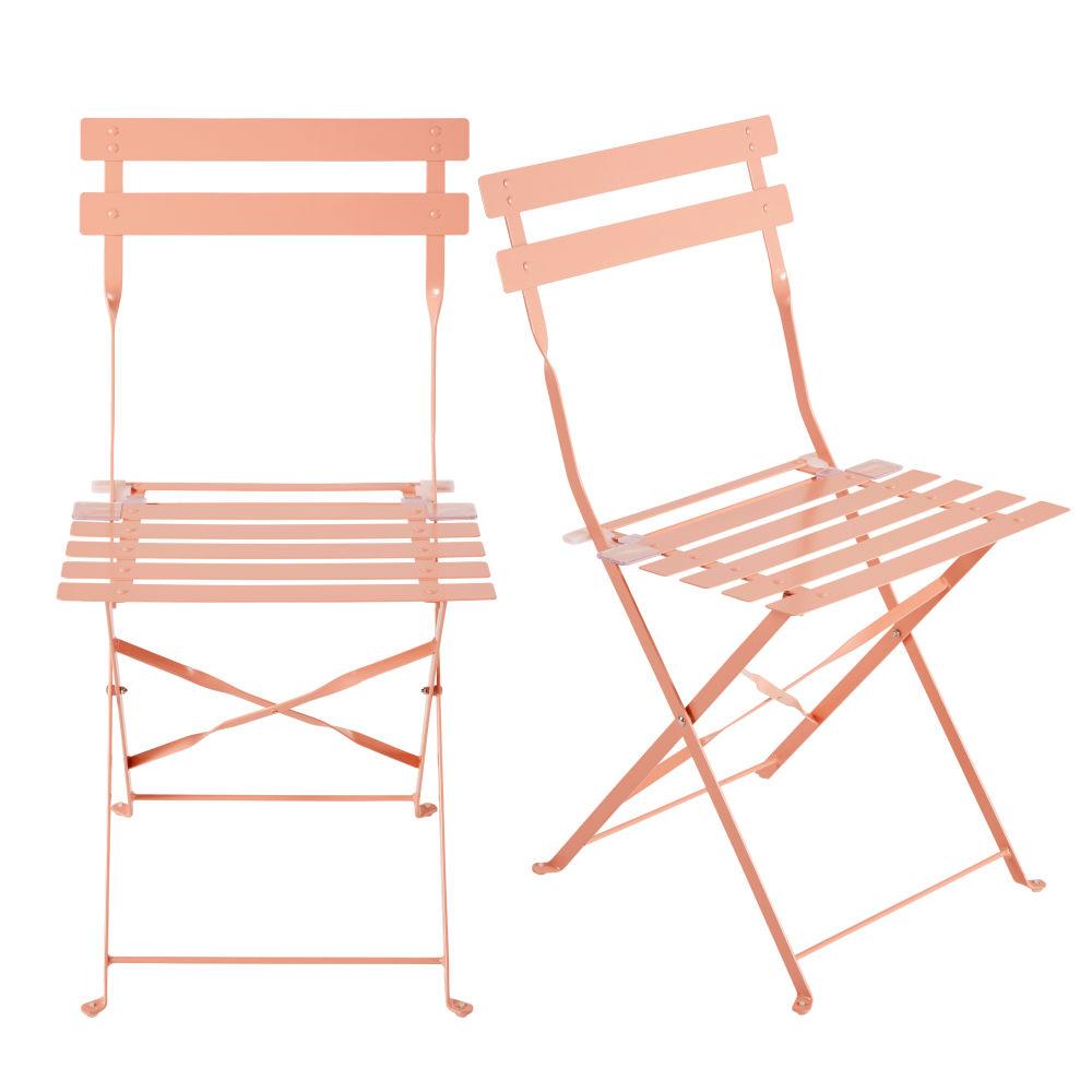 Chaise square latté orange