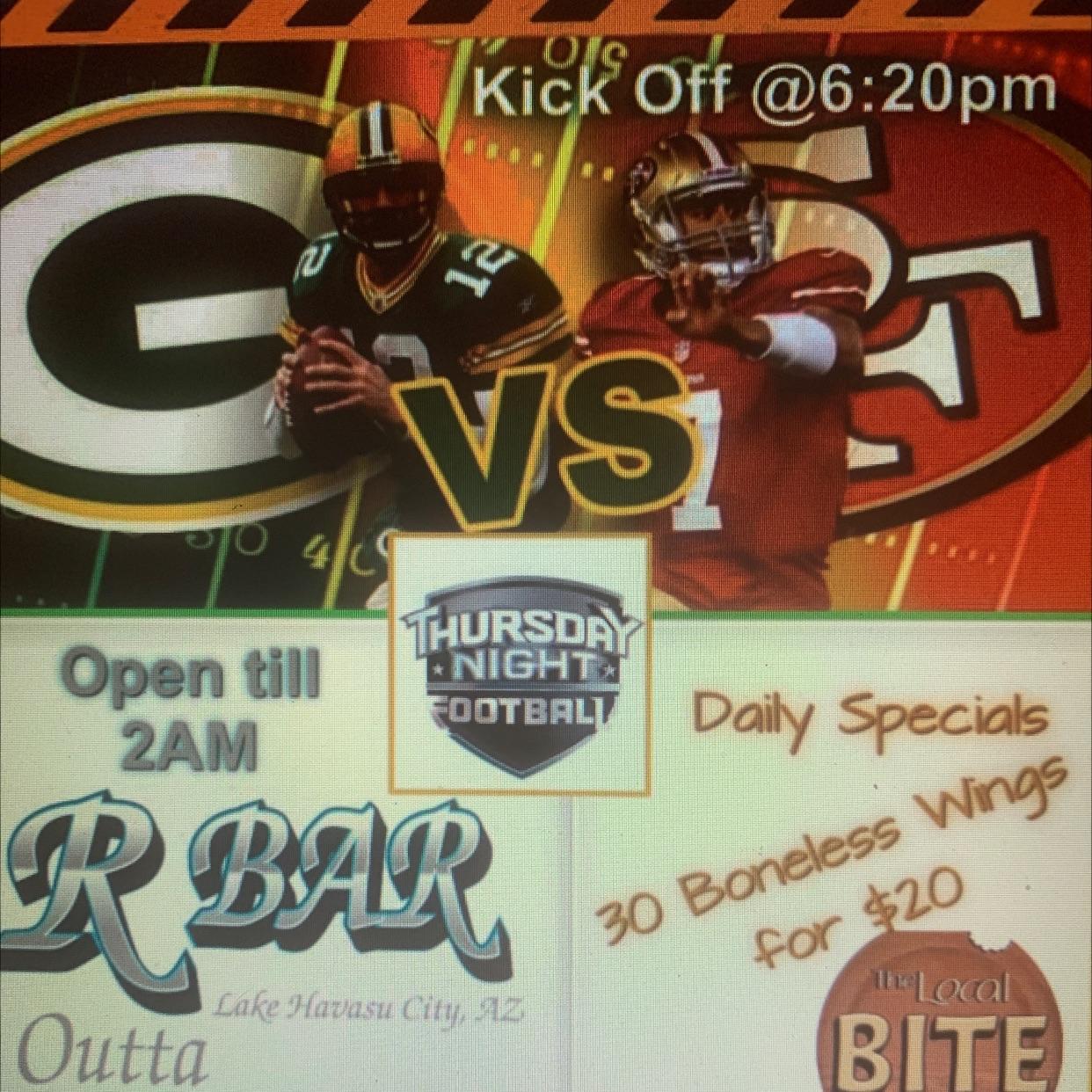 Thursday Night Football Specials!!!