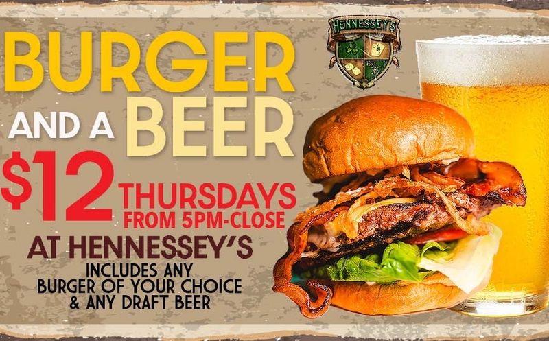 Burger & Beer Thursday's!!