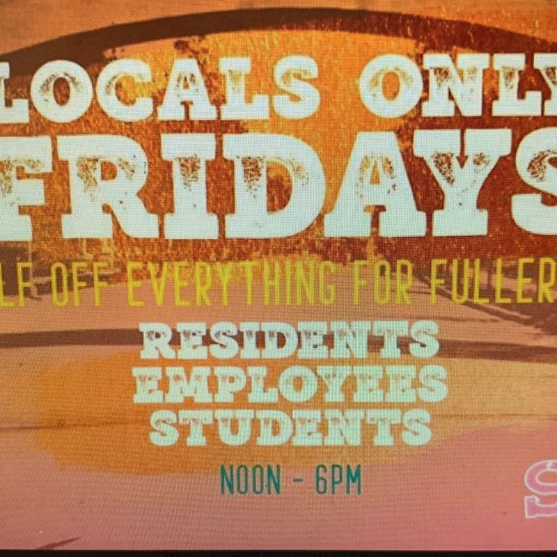Locals Only Friday's!!