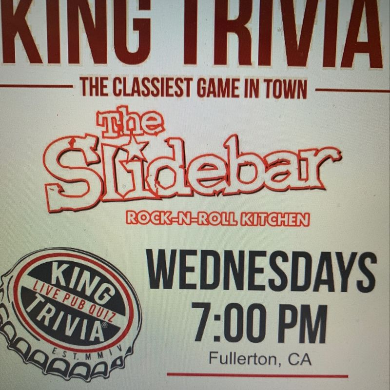 King Trivia Wednesday's!!