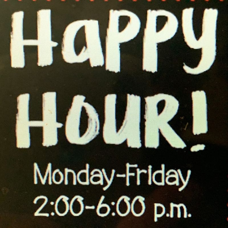 Friday Happy Hour Specials!!