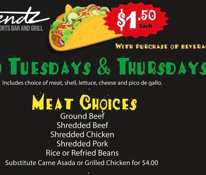 Taco Thursday's!!   $1.50 Taco's