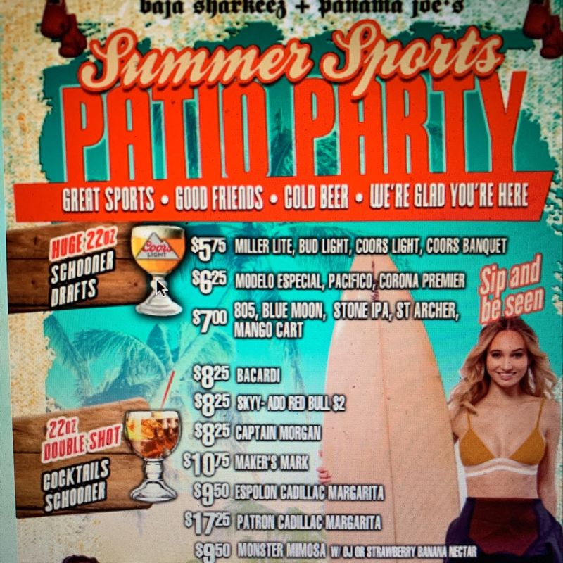 Summer Sports Patio Party!!