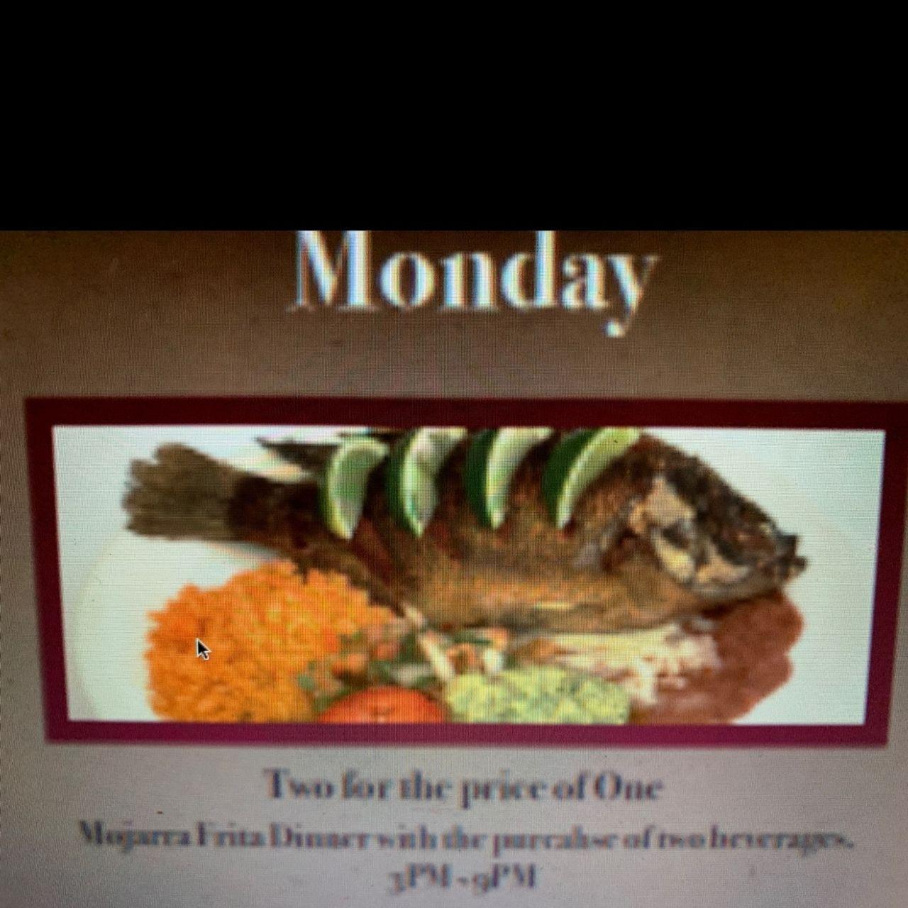 Monday Dinner Specials!!