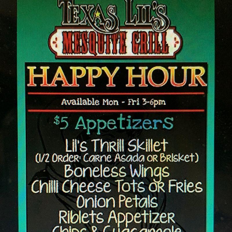 Wednesday Happy Hour Specials!!  3-6pm