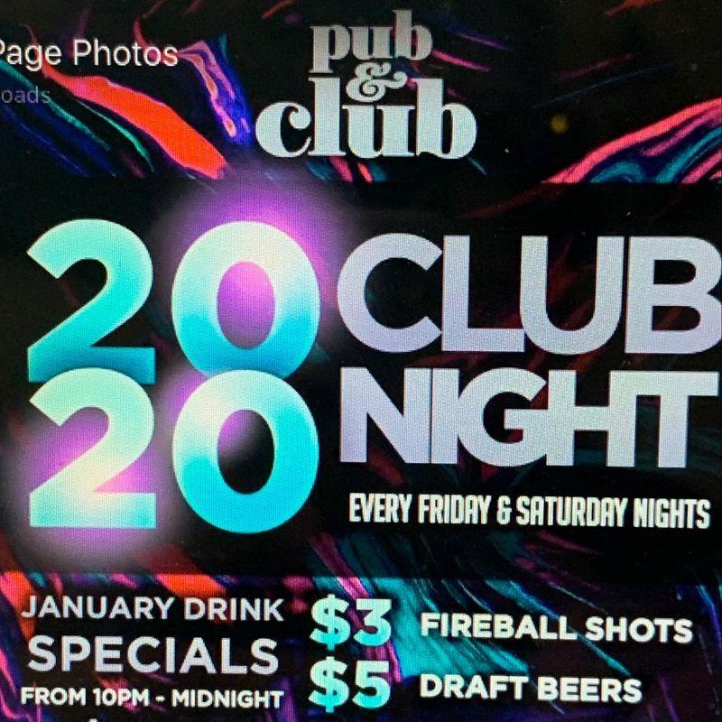 Friday Night 2020 Club Night!!