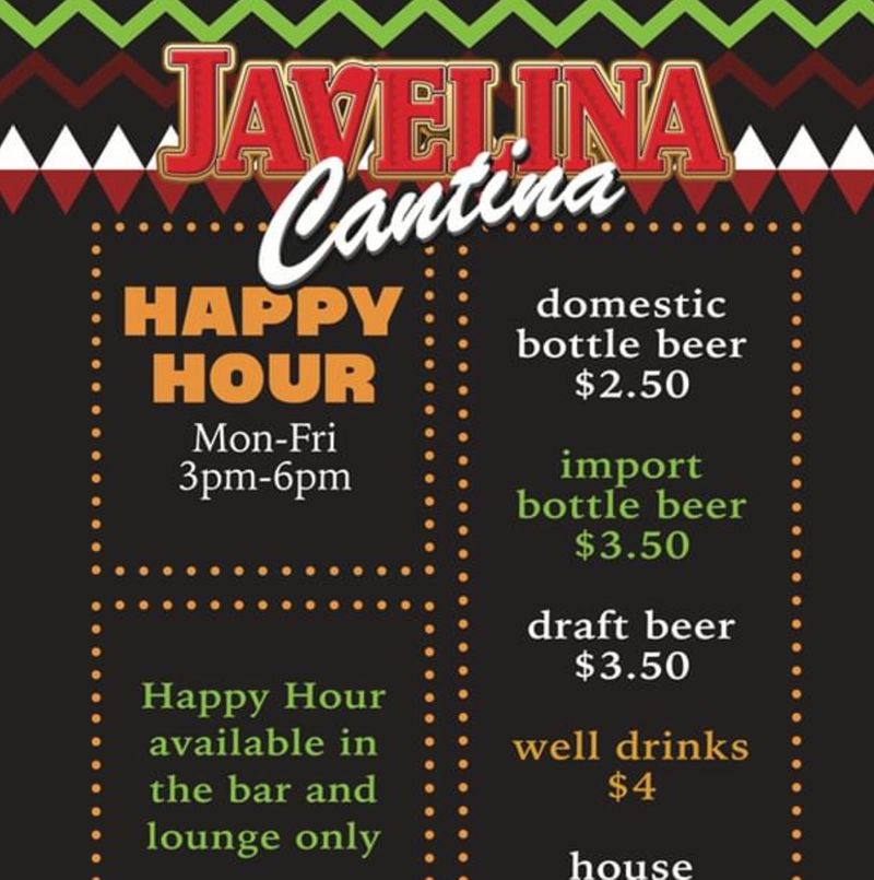Happy Hour Specials 3-6pm