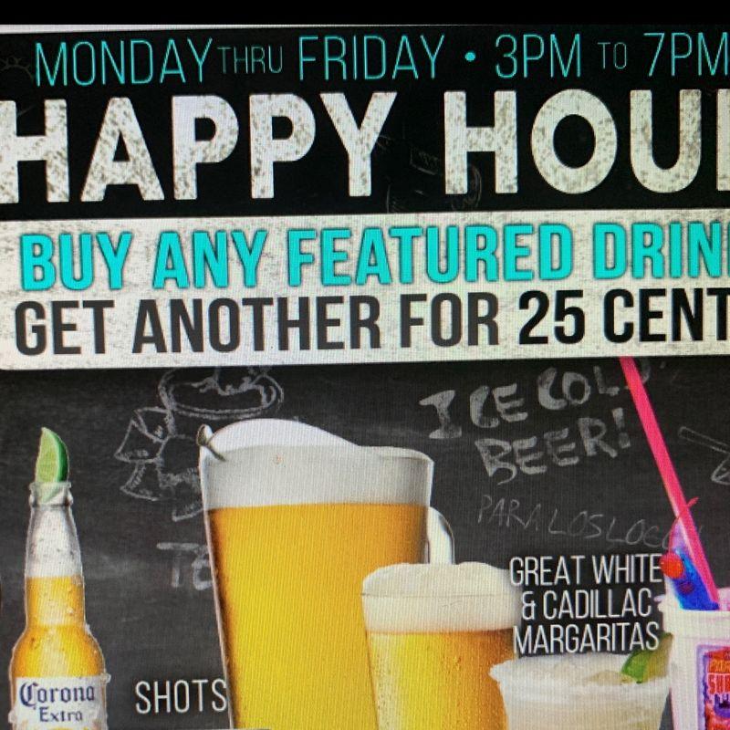 Thursday Happy Hour Specials!!