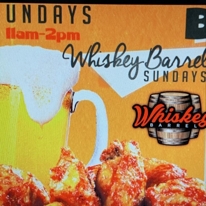 Whiskey Barrel Sunday Specials