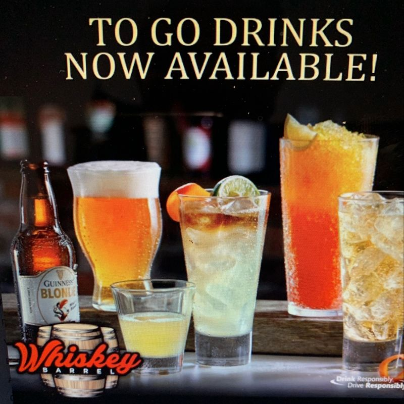 To Go Drinks Now Available!!!