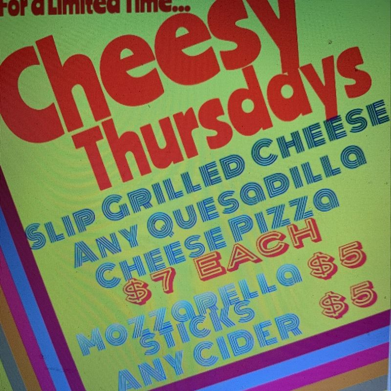 Cheesy Thursday's!!