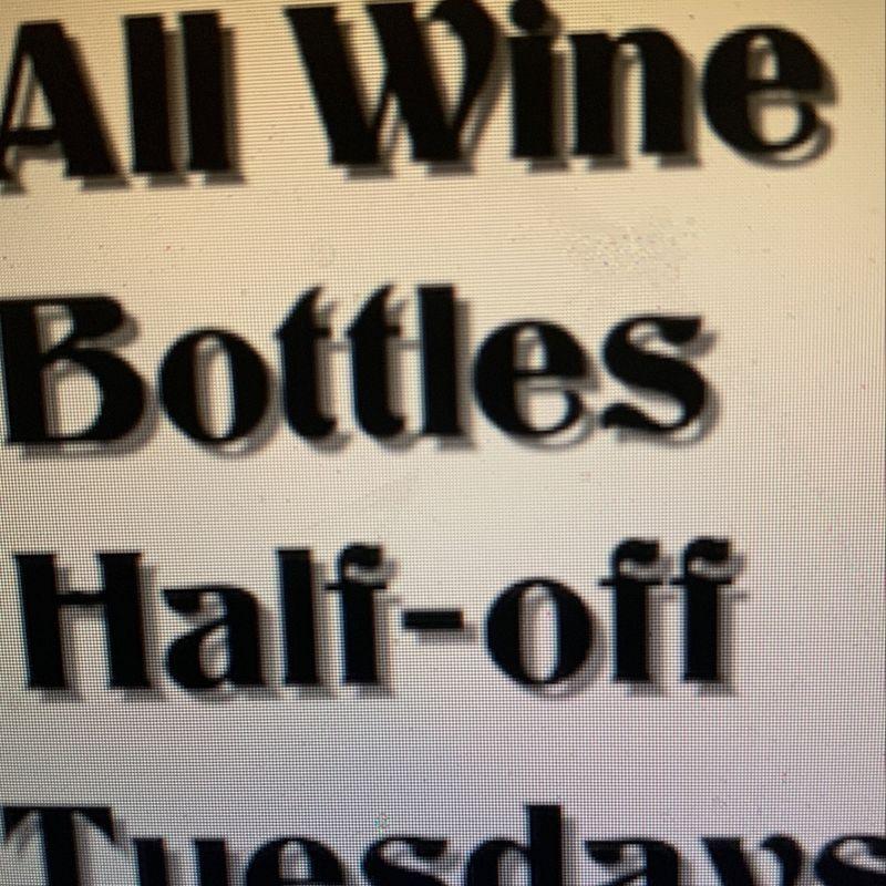 All Wine Bottles Half-Off