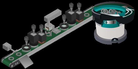 搬送装置を 新設した 検査装置導入 の事例