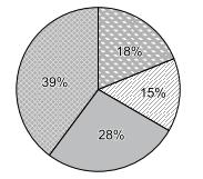 Gráfico de pizza relativo a votação de novo presidente de um clube