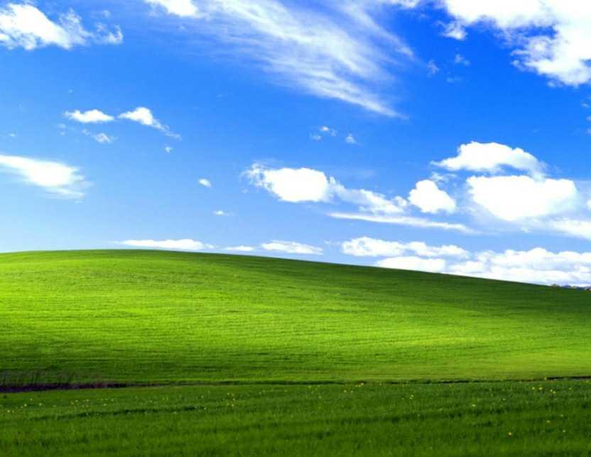 Location of the Microsoft Windows XP Default Wallpaper