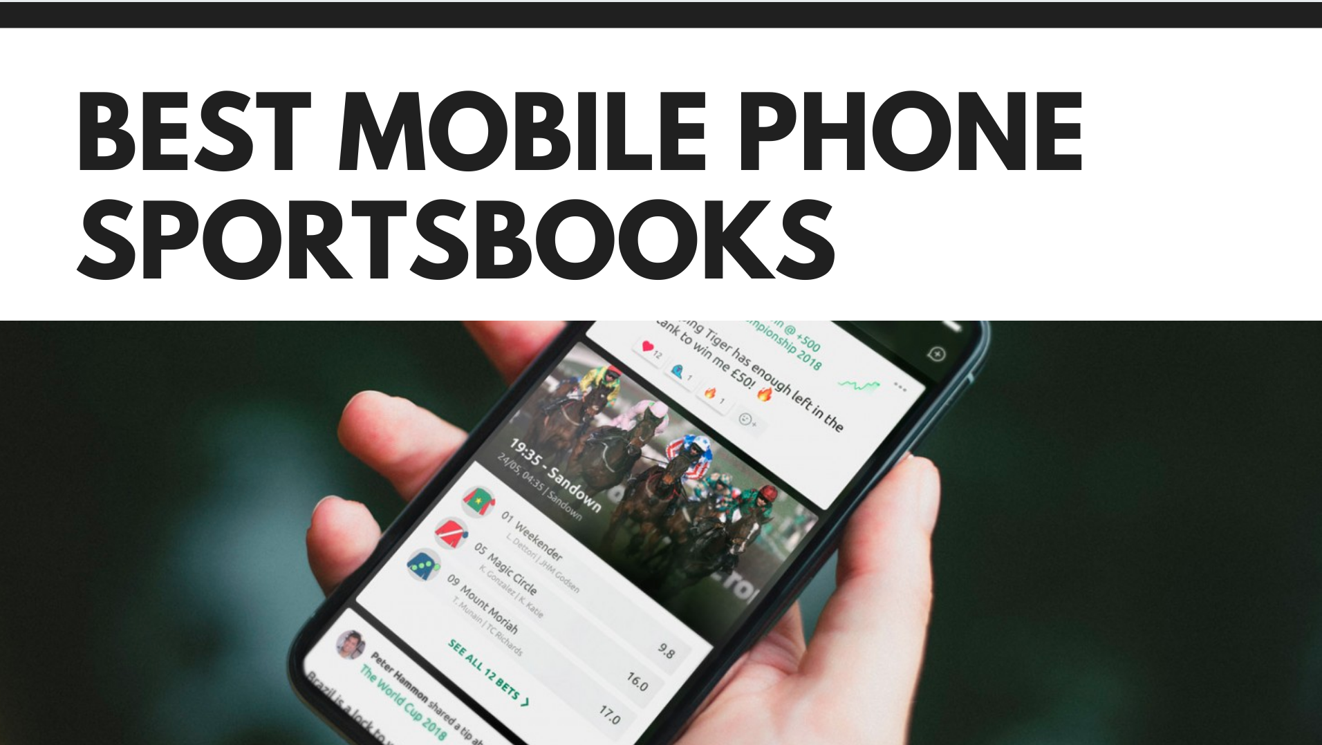 Best Mobile Phone Sportsbooks
