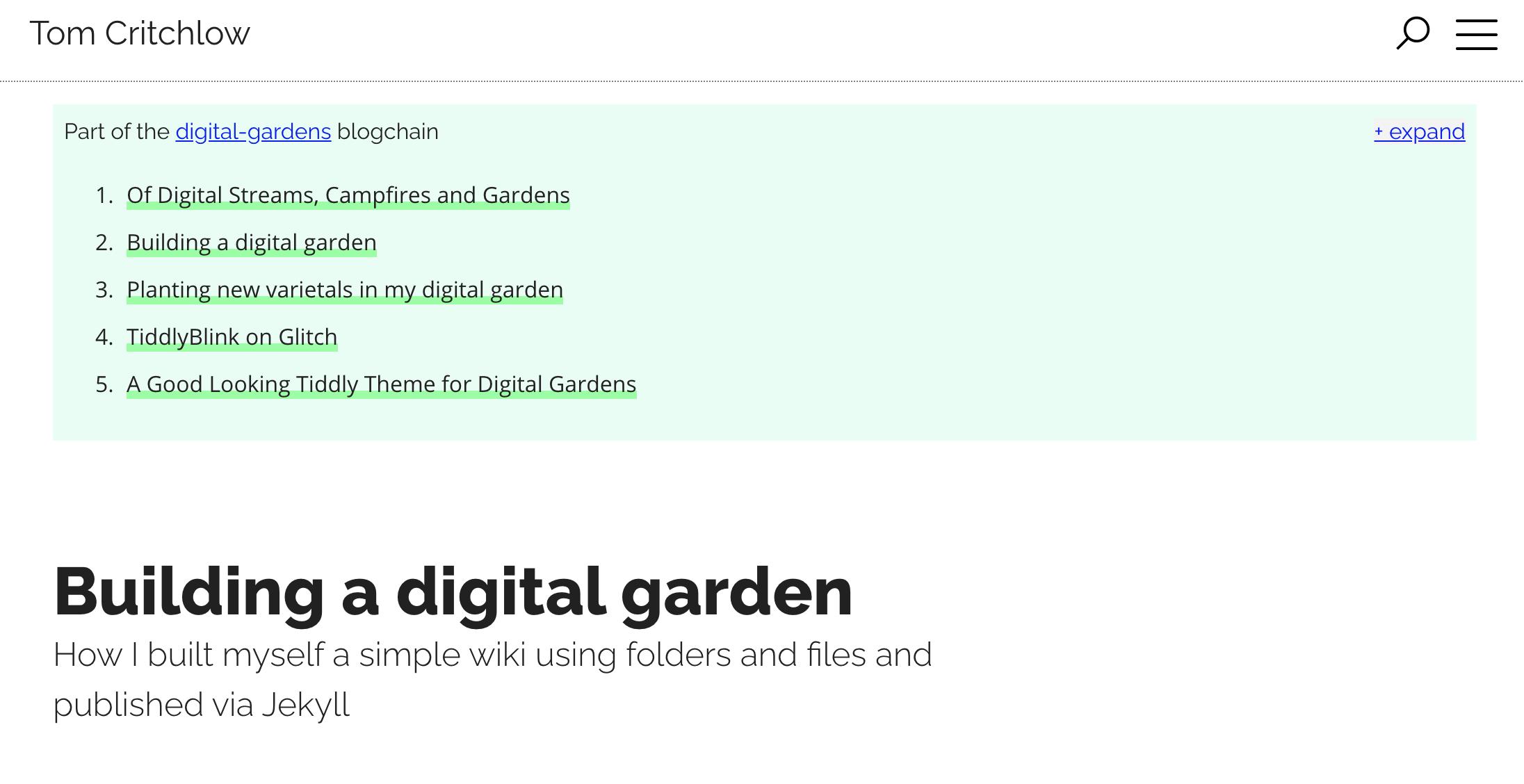 digital garden note blockchain