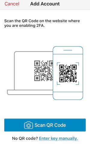 スキャンQRコード画面