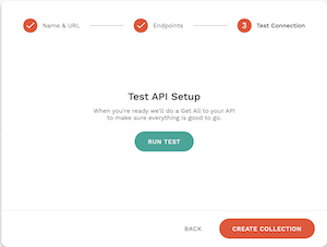API設定テストを実行