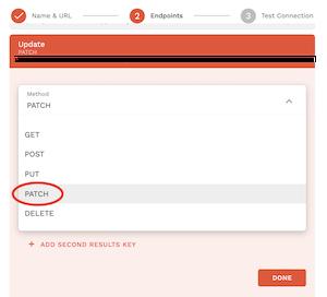 MethodをPATCHに変更