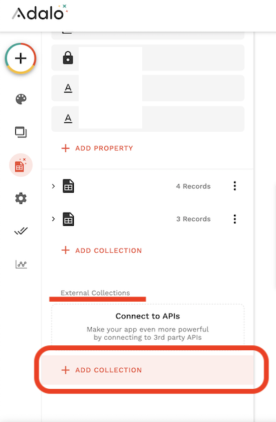 Adaloで外部データベースを追加