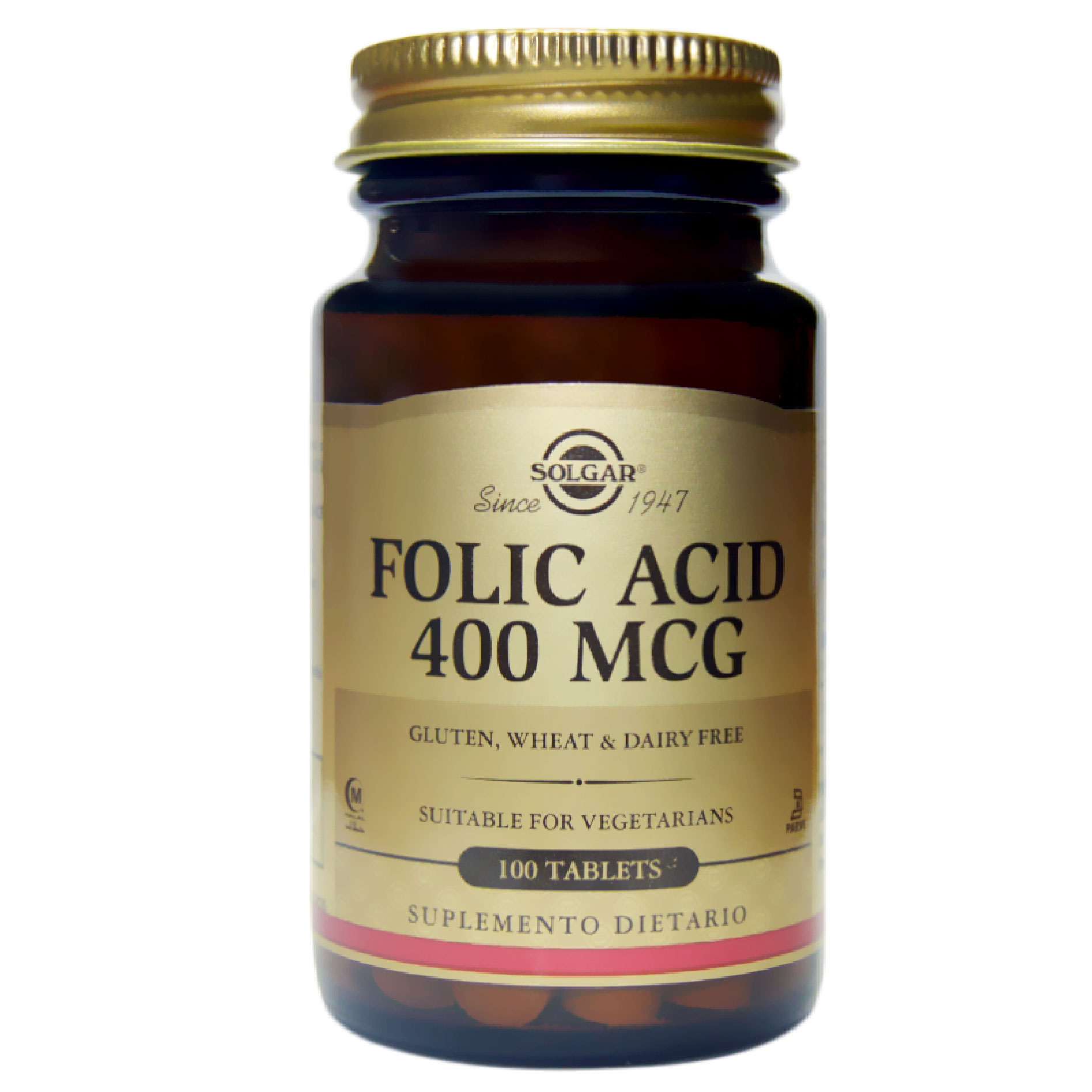 FOLIC ACID 400 MCG 100 TAB