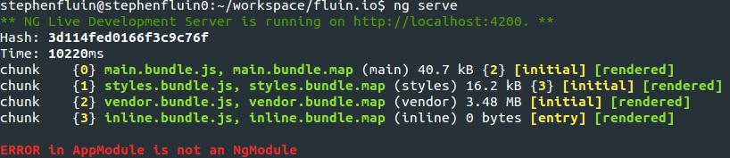 AppModule is not an NgModule