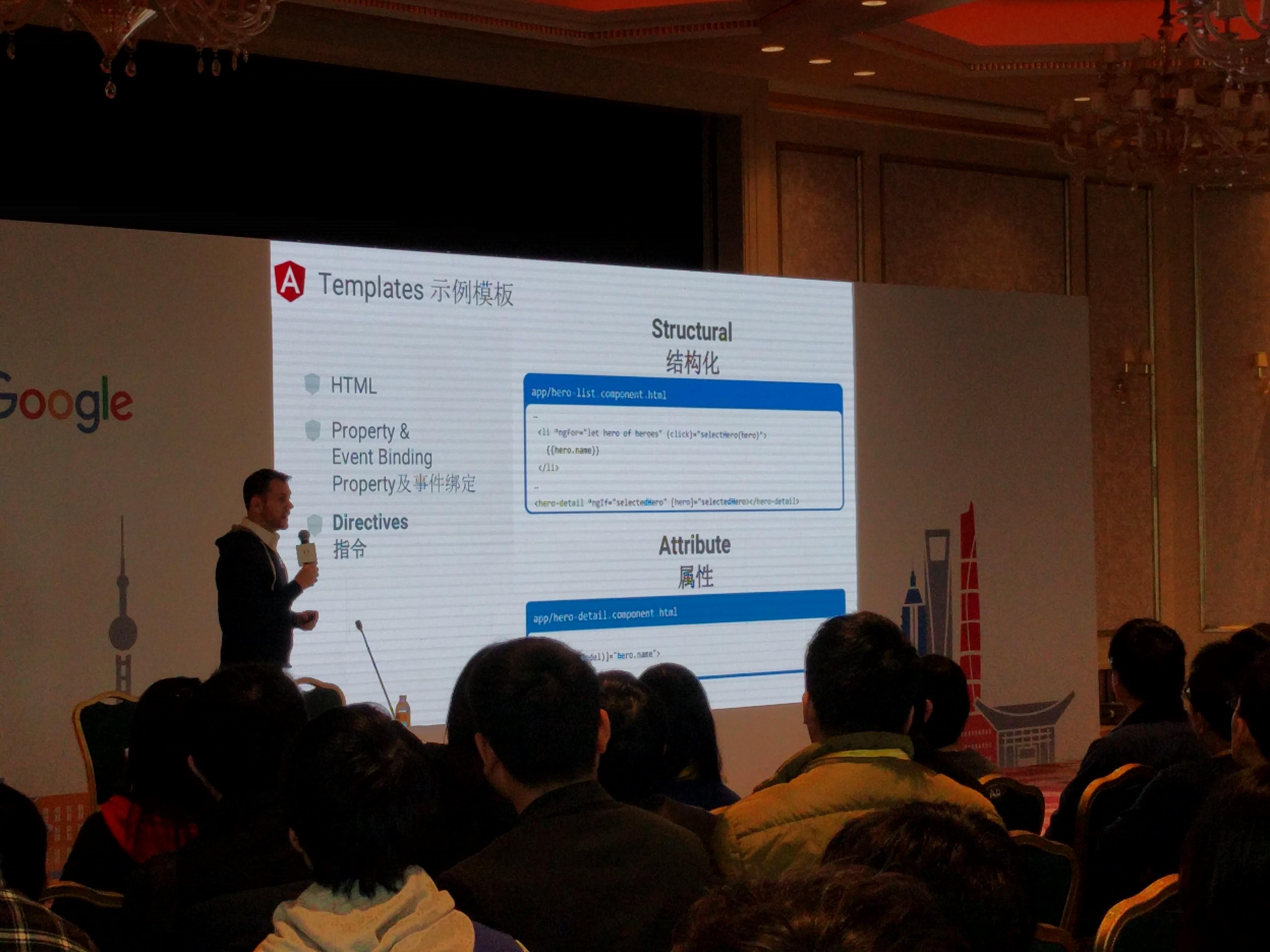 Angular presentation in China