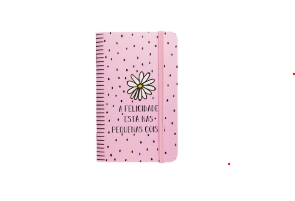 Cadernete a felicidade está nas pequenas coisas