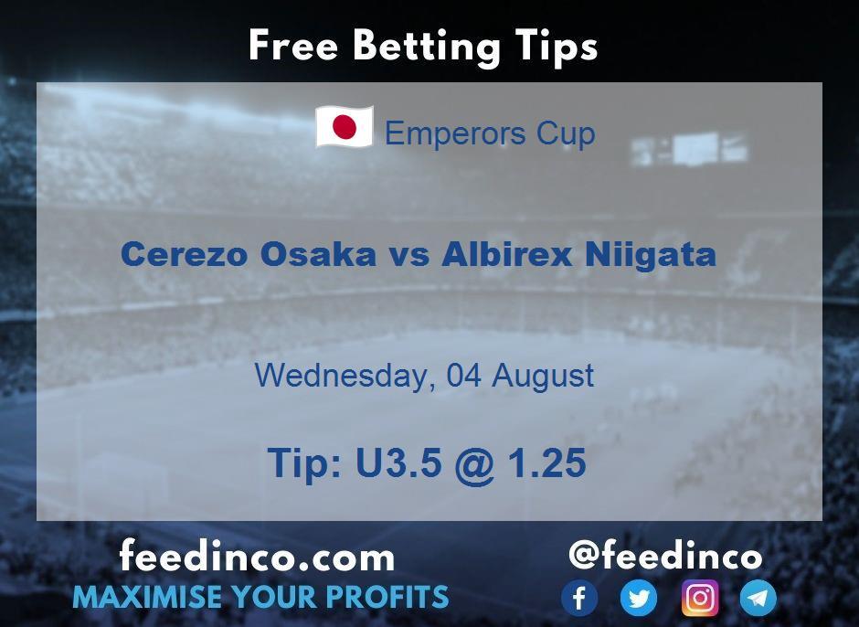 Cerezo Osaka vs Albirex Niigata Prediction