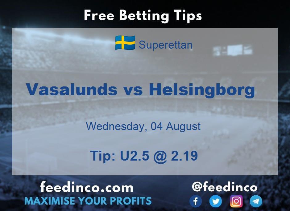 Vasalunds vs Helsingborg Prediction