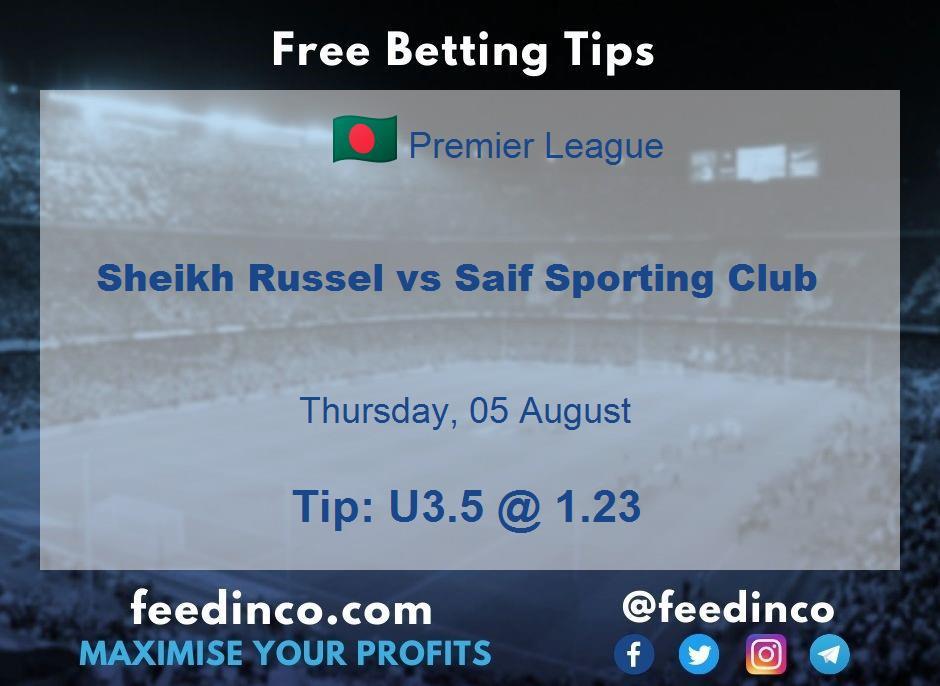 Sheikh Russel vs Saif Sporting Club Prediction